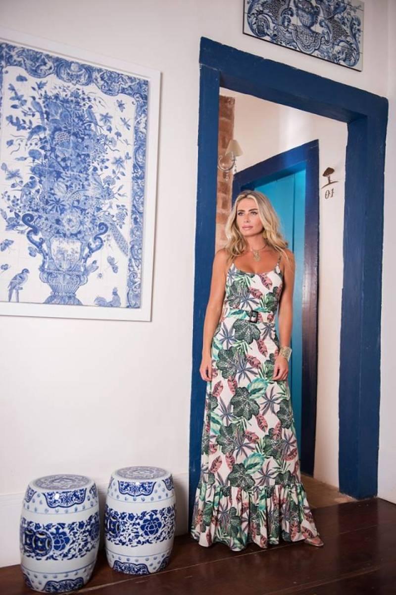 Vestido longo Flor de Pimenta -  MARAVILHOSO