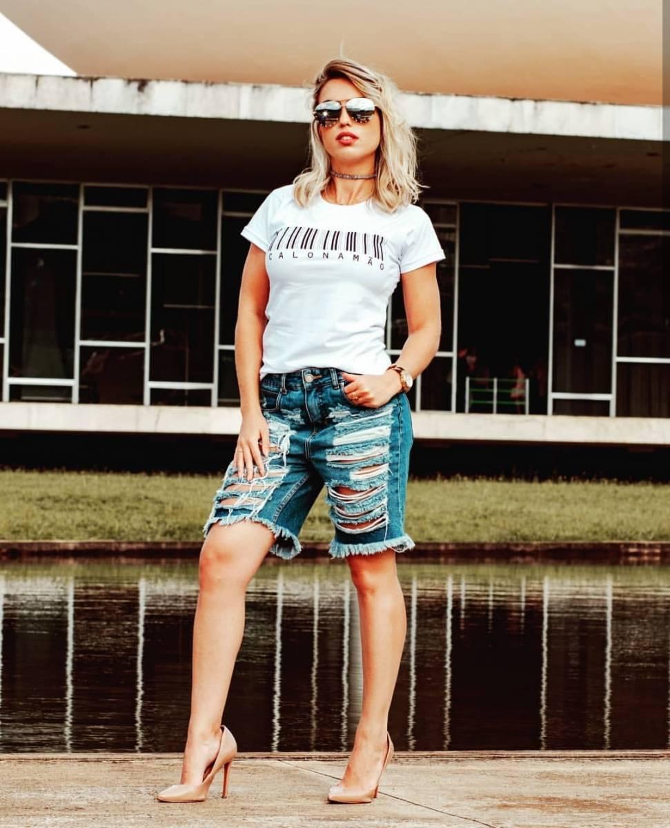 Bermuda Jeans Flor de Pimenta - DIVA!